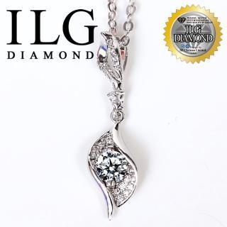 【ILG鑽】頂級八心八箭擬真鑽石項鍊-富麗名媛款 NC060 主鑽約50分 精緻設計(白K金色)