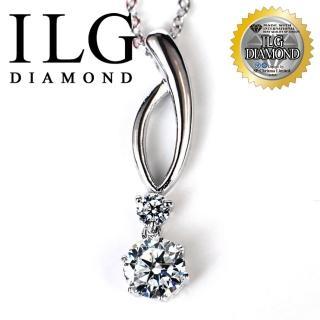 【ILG鑽】頂級八心八箭擬真鑽石項鍊鑽飾第一 璀璨愛戀款-主鑽1.25克拉-NC072(白K金色)
