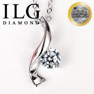 【ILG鑽】頂級八心八箭擬真鑽石項鍊-為愛譜曲款 主鑽75分 NC073耀眼擬真鑽鋯石(白K金色)