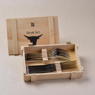 【WMF】牛排刀叉12PC﹣木盒(不鏽鋼牛排刀叉組)