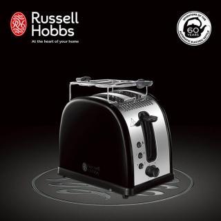 【Russell Hobbs 英國羅素】Legacy 晶亮烤麵包機(21293TW-晶亮黑)