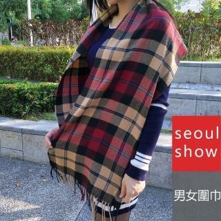 【Seoul Show】經典條格紋仿羊絨圍巾11款(卡其 藍線紅線格)   Seoul Show首爾秀