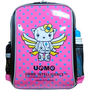 【UnMe】機器人圓點超輕後背書包(桃粉紅)