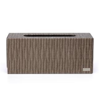【finara費納拉】精品飯店款-擦手紙巾專用盒-桌上型(KENZO東方咖啡色系)