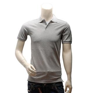【Y-3】adidas山本耀司經典LOGO素面純棉立領短袖POLO衫(淺灰AC3423)