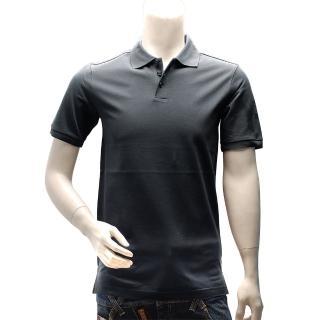 【Y-3】adidas山本耀司經典LOGO素面純棉立領短袖POLO衫(深灰AC3421)