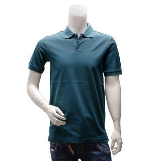 【Y-3】adidas山本耀司經典LOGO素面純棉立領短袖POLO衫(藍AC3422)