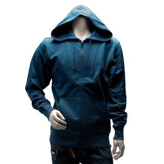 【Y-3】adidas山本耀司經典LOGO素面純棉連帽外套(藍AC3408)
