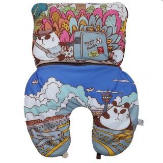【小克聾貓】二合一旅行頸枕(Panda-a-panda)