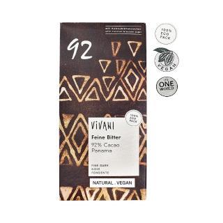 【Vivani】有機純92%黑巧克力片(80g)