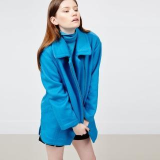 【ICHE 衣哲】羊毛拉鍊造型大衣外套