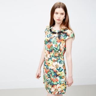 【ICHE 衣哲】巴托船領織帶花版洋裝