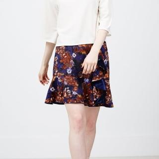 【ICHE 衣哲】荷葉疊層花版造型裙