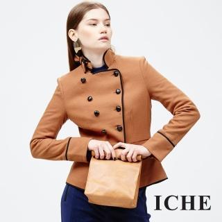【ICHE 衣哲】雙排扣立領外套