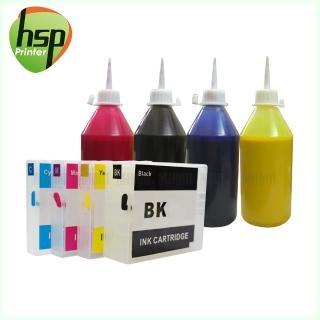 【HSP】CANON PGI-2700XL 四色 填充式墨水匣 空匣+晶片+100cc墨水組(使用防水墨水)