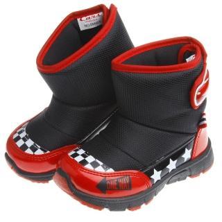 【布布童鞋】DisneyCars閃電麥坤經典黑賽車款兒童靴(MLN609D)