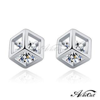 【STEVEN YANG】正白K飾「夢幻方糖」耳針式耳環 G5038(銀色)