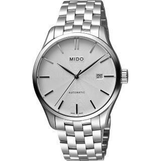 【MIDO】Belluna II Gent 經典機械腕錶-銀/40mm(M0244071103100)