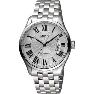 【MIDO】Belluna II Gent 羅馬機械腕錶-銀/40mm(M0244071103300)