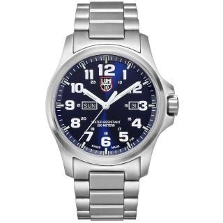 【瑞士LUMINOX雷明時】戰場系列藍寶鏡面精鋼腕錶(藍/45mm)