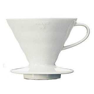 【日本HARIO】V60白色02陶瓷濾杯1-4杯(VDC-02W)