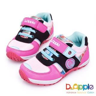 【Dr. Apple 機能童鞋】印第安圖騰復古拉風童鞋(粉)