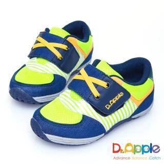 【Dr. Apple 機能童鞋】條紋牛仔布俐落西部風童鞋(綠)