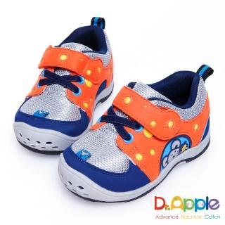 【Dr. Apple 機能童鞋】美味乳酪與貪吃老鼠俏皮小童鞋(藍)