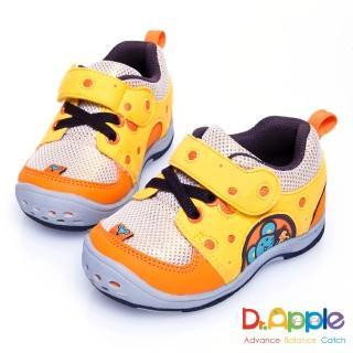 【Dr. Apple 機能童鞋】美味乳酪與貪吃老鼠俏皮小童鞋(橘)