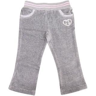 【GUCCI】法蘭絨雙G愛心嬰幼兒長褲-9/12 MONTHS(灰色)   GUCCI 古馳