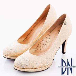 【DN】幸福婚鞋 MIT浪漫雪花鑽飾金蔥高跟鞋(金)