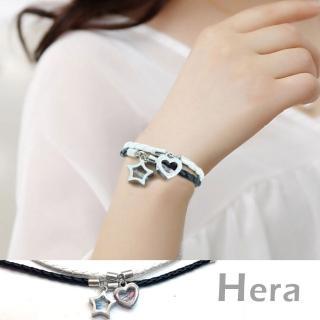 【Hera】赫拉 手工心形星星時光沙漏情侶皮質手環/手鍊(二款)