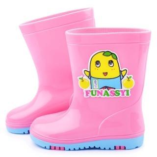 【童鞋城堡】船梨精 中童 可愛雙色底雨鞋(FN7395-粉)