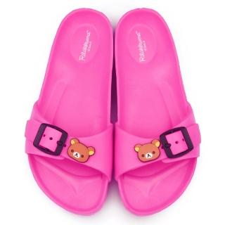 【童鞋城堡】拉拉熊 女款 超輕盈室內外拖(KM26082-桃)