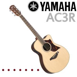 【YAMAHA 山葉】全單板電民謠吉他原木色-公司貨保固(AC3R)