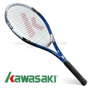 【日本 KAWASAKI】川崎 Power 3D強化鋁合金網球拍_全碳網球拍(藍 KP1200BL)