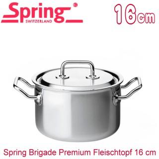 【瑞士Spring】尊爵系列雙耳多層複合金湯鍋1554-16(16CM)
