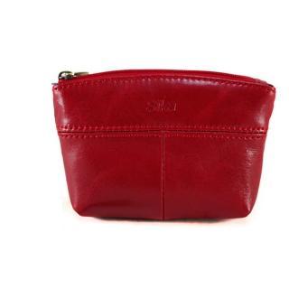【Sika】義大利時尚真皮拉鍊大容量零錢包(A8257-04魅惑紅)