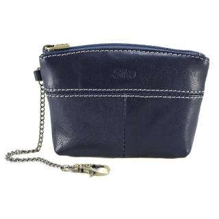 【Sika】義大利時尚真皮拉鍊大容量零錢包(A8257-06清玉藍)