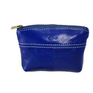 【Sika】義大利時尚真皮拉鍊大容量零錢包(A8257-05亮寶藍)