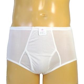 賽凡絲純蠶絲品味型男蠶絲內褲(白色)