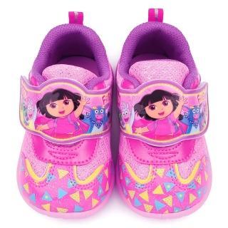 【童鞋城堡】朵拉 中童可愛亮麗運動鞋(DR87008-粉)