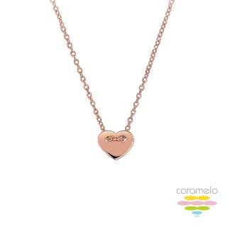 【彩糖鑽工坊】桃樂絲 Doris系列 玫瑰金項鍊(925純銀鍍玫瑰金 HAG-PS27)