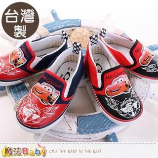 【魔法Baby】台灣製迪士尼閃電麥坤正版帆布鞋(sh9104)