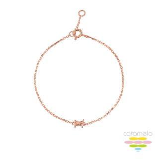 【彩糖鑽工坊】桃樂絲 Doris系列 玫瑰金手鍊(925純銀鍍玫瑰金 HAG-BS21)