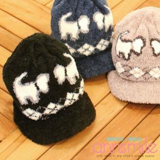 【微笑安安】MIT狗狗帽簷款珊瑚絨寶寶兒童毛帽‧4色
