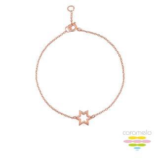 【彩糖鑽工坊】桃樂絲 Doris系列 玫瑰金手鍊(925純銀鍍玫瑰金 HAG-BS23)