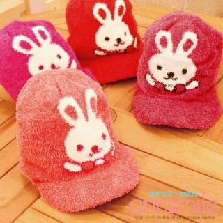 【微笑安安】MIT小兔帽簷款珊瑚絨寶寶兒童毛帽‧4色