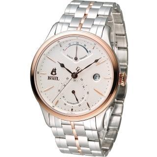 【Ernest Borel 依波路】雙時區動力儲存機械錶(GBR8880P3-25191 雙色)
