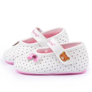 【童鞋城堡】拉拉熊 小童 透氣學步寶寶鞋(KM82002-白)